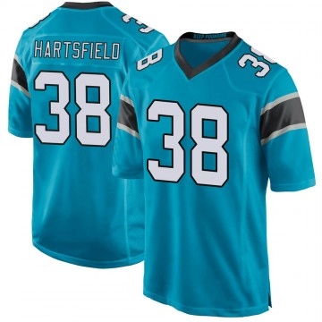 Youth Nike Carolina Panthers Myles Hartsfield Blue Alternate Jersey - Game