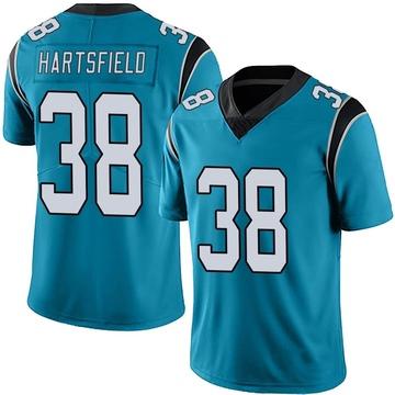 Youth Nike Carolina Panthers Myles Hartsfield Blue Alternate Vapor Untouchable Jersey - Limited
