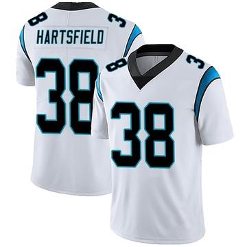 Youth Nike Carolina Panthers Myles Hartsfield White Vapor Untouchable Jersey - Limited