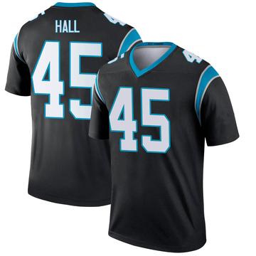 Youth Nike Carolina Panthers Nate Hall Black Jersey - Legend