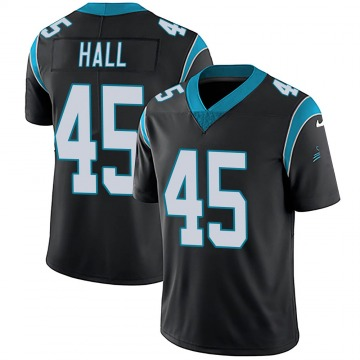 Youth Nike Carolina Panthers Nate Hall Black Team Color Vapor Untouchable Jersey - Limited