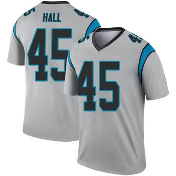 Youth Nike Carolina Panthers Nate Hall Inverted Silver Jersey - Legend