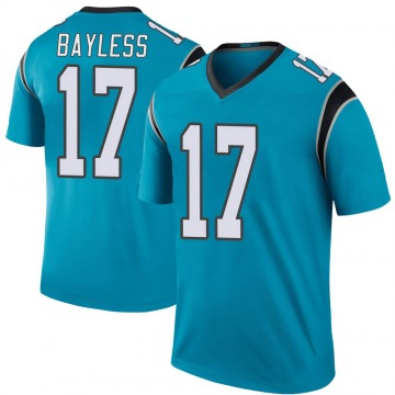 Youth Nike Carolina Panthers Omar Bayless Blue Color Rush Jersey - Legend