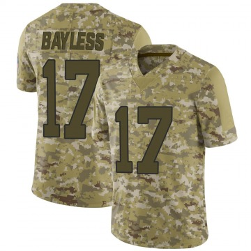 Youth Nike Carolina Panthers Omar Bayless Camo 2018 Salute to Service Jersey - Limited
