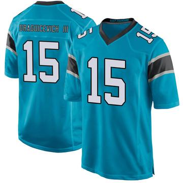 Youth Nike Carolina Panthers Oscar Draguicevich III Blue Alternate Jersey - Game