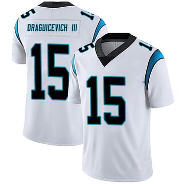 Youth Nike Carolina Panthers Oscar Draguicevich III White Vapor Untouchable Jersey - Limited