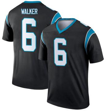 Youth Nike Carolina Panthers P.J. Walker Black Jersey - Legend