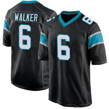 Youth Nike Carolina Panthers P.J. Walker Black Team Color Jersey - Game