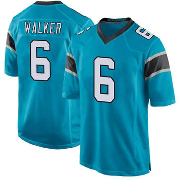 Youth Nike Carolina Panthers P.J. Walker Blue Alternate Jersey - Game