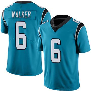 Youth Nike Carolina Panthers P.J. Walker Blue Alternate Vapor Untouchable Jersey - Limited