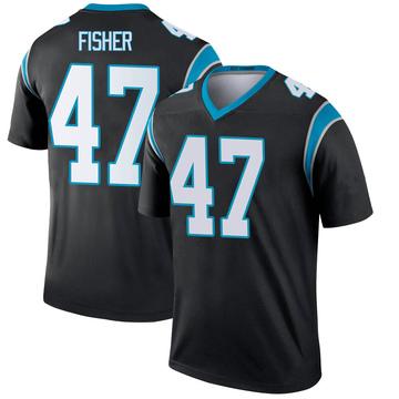 Youth Nike Carolina Panthers Paddy Fisher Black Jersey - Legend