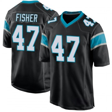 Youth Nike Carolina Panthers Paddy Fisher Black Team Color Jersey - Game