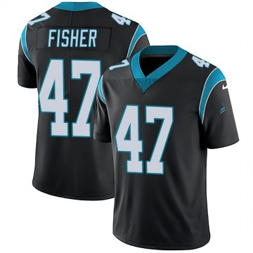 Youth Nike Carolina Panthers Paddy Fisher Black Team Color Vapor Untouchable Jersey - Limited