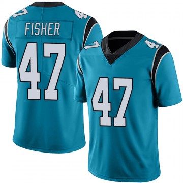 Youth Nike Carolina Panthers Paddy Fisher Blue Alternate Vapor Untouchable Jersey - Limited