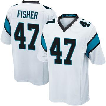Youth Nike Carolina Panthers Paddy Fisher White Jersey - Game