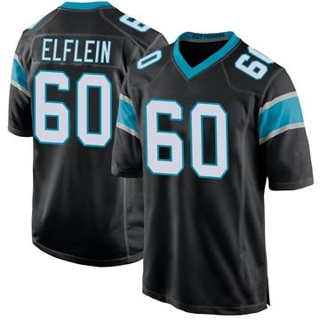 Youth Nike Carolina Panthers Pat Elflein Black Team Color Jersey - Game
