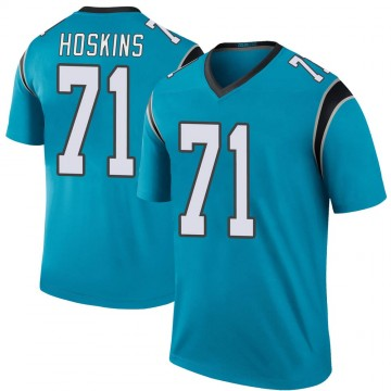 Youth Nike Carolina Panthers Phil Hoskins Blue Color Rush Jersey - Legend