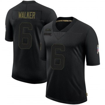 Youth Nike Carolina Panthers Phillip Walker Black 2020 Salute To Service Jersey - Limited