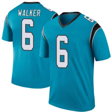 Youth Nike Carolina Panthers Phillip Walker Blue Color Rush Jersey - Legend