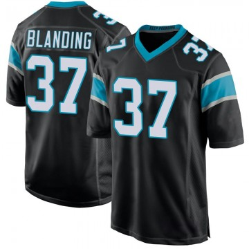 Youth Nike Carolina Panthers Quin Blanding Black Team Color Jersey - Game