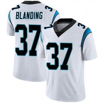 Youth Nike Carolina Panthers Quin Blanding White Vapor Untouchable Jersey - Limited