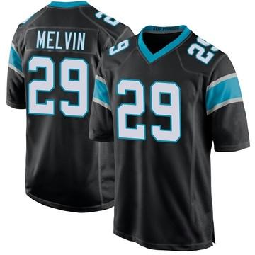 Youth Nike Carolina Panthers Rashaan Melvin Black Team Color Jersey - Game