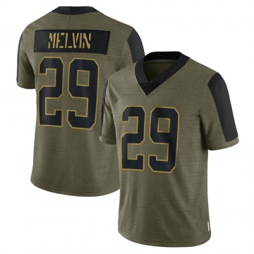 Youth Nike Carolina Panthers Rashaan Melvin Olive 2021 Salute To Service Jersey - Limited