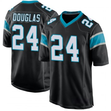 Youth Nike Carolina Panthers Rasul Douglas Black Team Color Jersey - Game