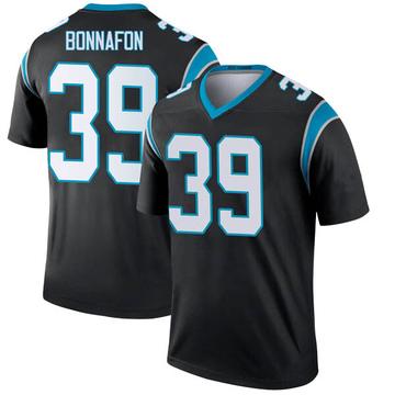 Youth Nike Carolina Panthers Reggie Bonnafon Black Jersey - Legend