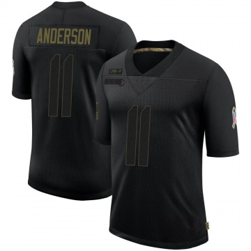 Youth Nike Carolina Panthers Robby Anderson Black 2020 Salute To Service Jersey - Limited