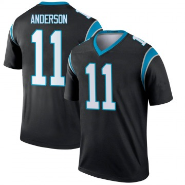 Youth Nike Carolina Panthers Robby Anderson Black Jersey - Legend