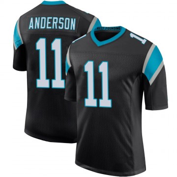 Youth Nike Carolina Panthers Robby Anderson Black Team Color 100th Vapor Untouchable Jersey - Limited