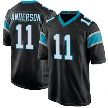 Youth Nike Carolina Panthers Robby Anderson Black Team Color Jersey - Game