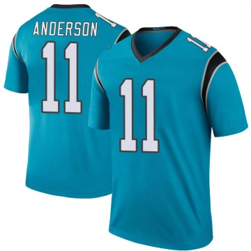 Youth Nike Carolina Panthers Robby Anderson Blue Color Rush Jersey - Legend