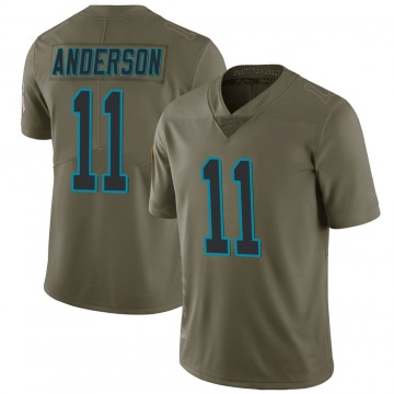 Youth Nike Carolina Panthers Robby Anderson Green 2017 Salute to Service Jersey - Limited