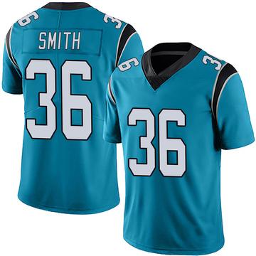 Youth Nike Carolina Panthers Rodney Smith Blue Alternate Vapor Untouchable Jersey - Limited