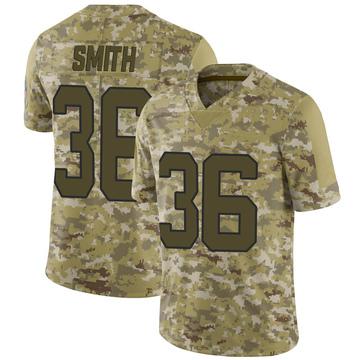 Youth Nike Carolina Panthers Rodney Smith Camo 2018 Salute to Service Jersey - Limited