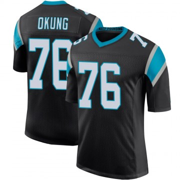 Youth Nike Carolina Panthers Russell Okung Black Team Color 100th Vapor Untouchable Jersey - Limited