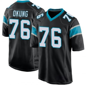 Youth Nike Carolina Panthers Russell Okung Black Team Color Jersey - Game