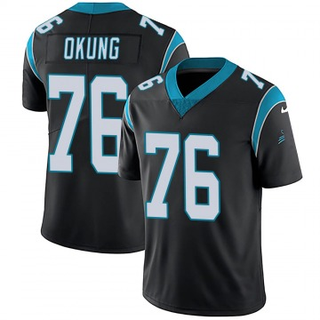 Youth Nike Carolina Panthers Russell Okung Black Team Color Vapor Untouchable Jersey - Limited