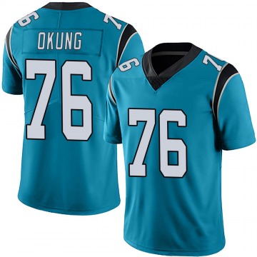 Youth Nike Carolina Panthers Russell Okung Blue Alternate Vapor Untouchable Jersey - Limited