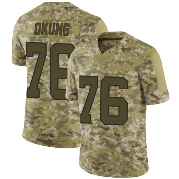 Youth Nike Carolina Panthers Russell Okung Camo 2018 Salute to Service Jersey - Limited