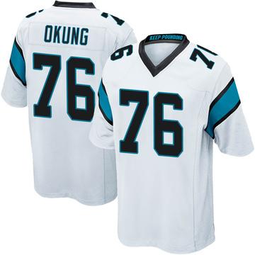 Youth Nike Carolina Panthers Russell Okung White Jersey - Game
