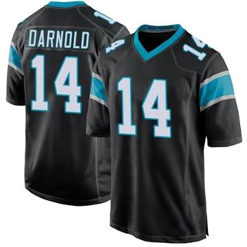 Youth Nike Carolina Panthers Sam Darnold Black Team Color Jersey - Game