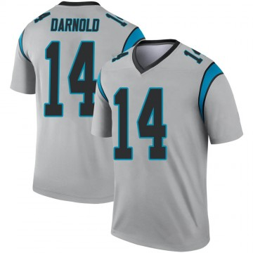 Youth Nike Carolina Panthers Sam Darnold Inverted Silver Jersey - Legend