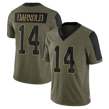Youth Nike Carolina Panthers Sam Darnold Olive 2021 Salute To Service Jersey - Limited