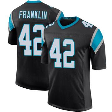 Youth Nike Carolina Panthers Sam Franklin Black Team Color 100th Vapor Untouchable Jersey - Limited
