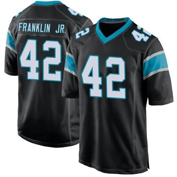 Youth Nike Carolina Panthers Sam Franklin Black Team Color Jersey - Game