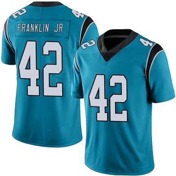 Youth Nike Carolina Panthers Sam Franklin Blue Alternate Vapor Untouchable Jersey - Limited