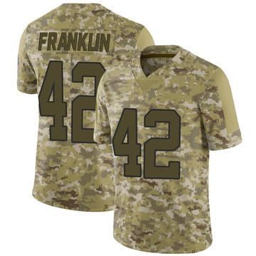 Youth Nike Carolina Panthers Sam Franklin Camo 2018 Salute to Service Jersey - Limited